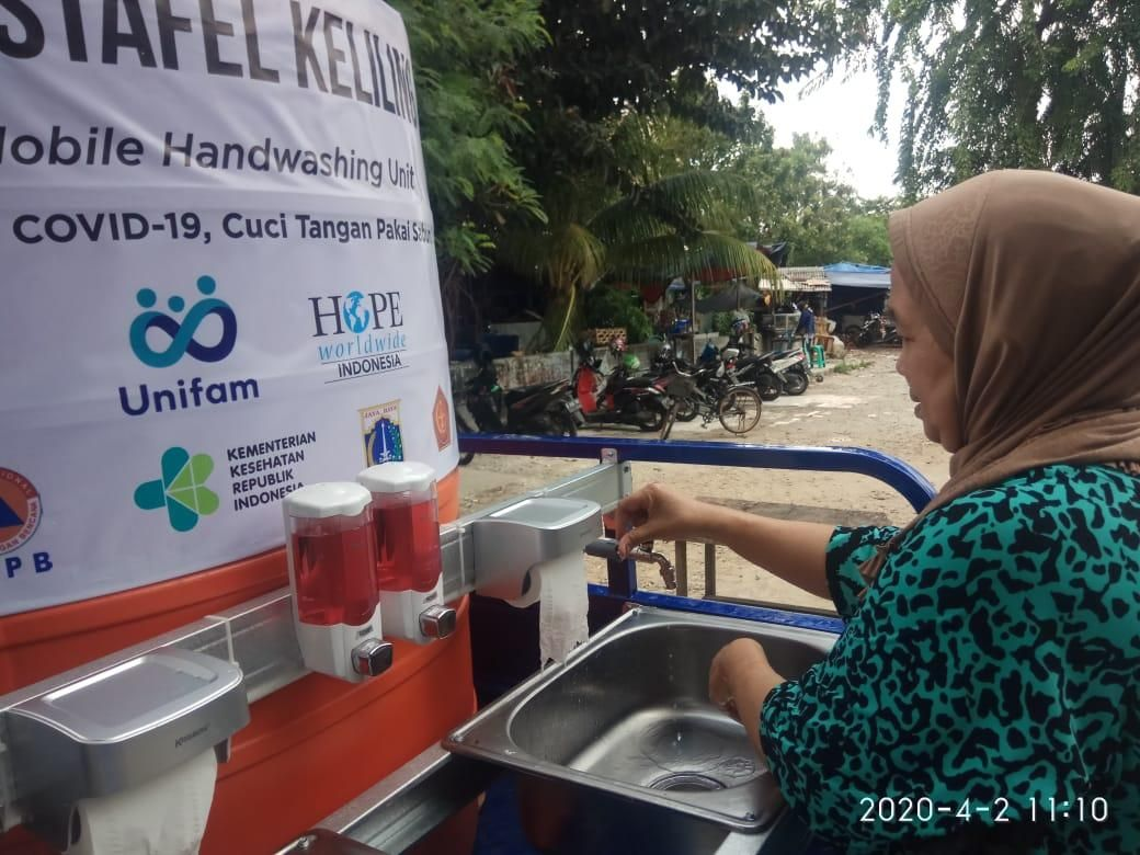 Unifam and HOPE Worldwide Indonesia Provide Mobile Wash Basin in ...